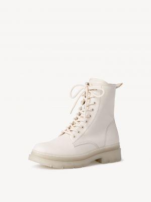 Высокие ботинки - бежевые Tamaris