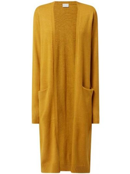 Żółty sweter bez zapięcia Vila