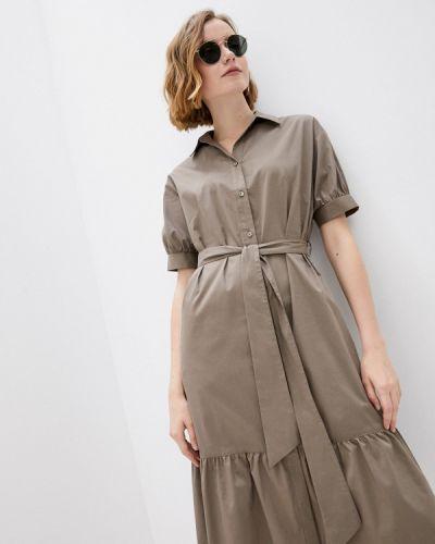Коричневое платье-рубашка Blauz