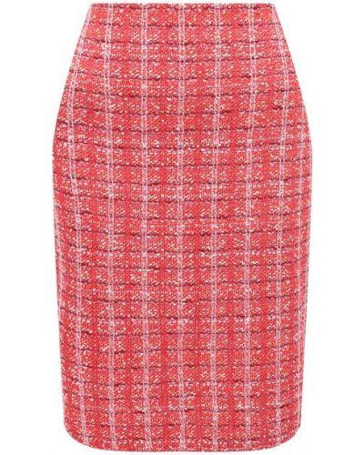 Шерстяная юбка - красная St. John