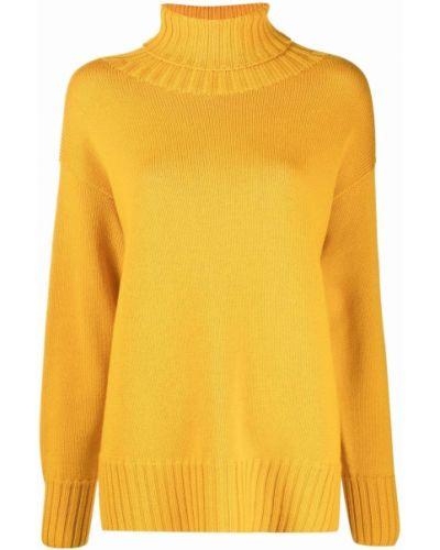 Желтая кофта с длинными рукавами Drumohr