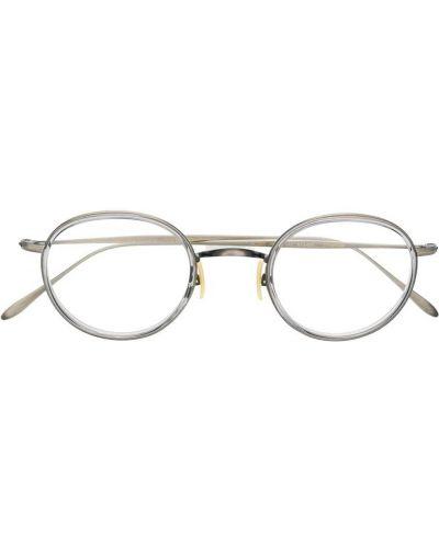 Прямые серебряные очки круглые Ray Ban Junior