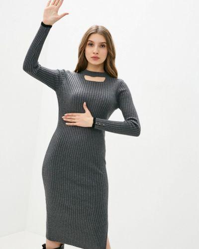 Серое вязаное платье Felix Hardy