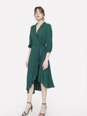 Ażurowa zielona sukienka z wiskozy Seriously