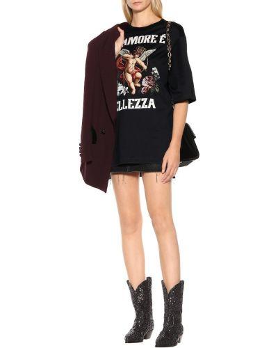Skórzany czarny kowboj buty Dolce And Gabbana