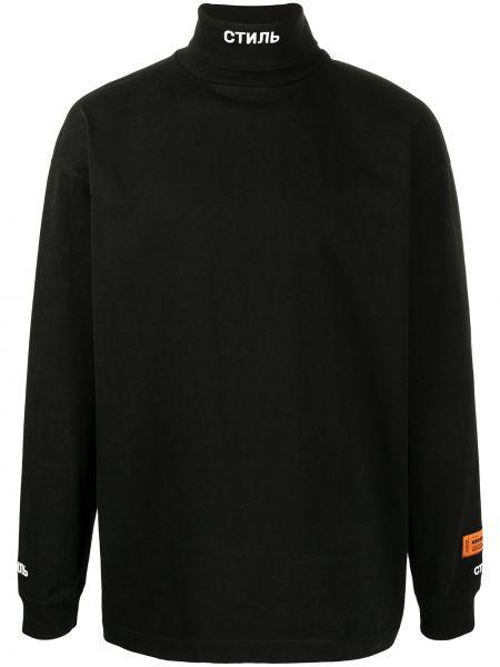 Z rękawami bawełna bawełna bluza z haftem Heron Preston