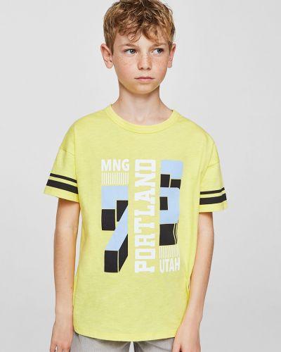 Футболка футбольный желтый Mango Kids