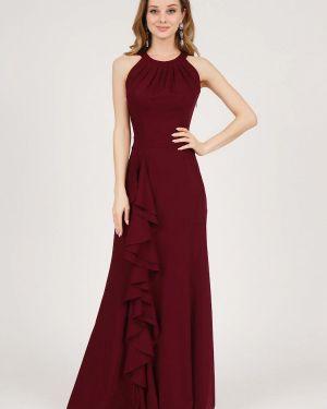 Вечернее платье бордовый весеннее Marichuell