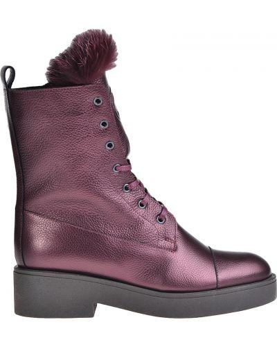 Ботинки на каблуке осенние кожаные Sofia Baldi