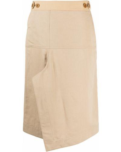 Spódnica asymetryczna - beżowa Lemaire