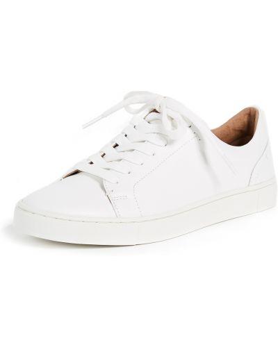 Кожаные кроссовки - белые Frye
