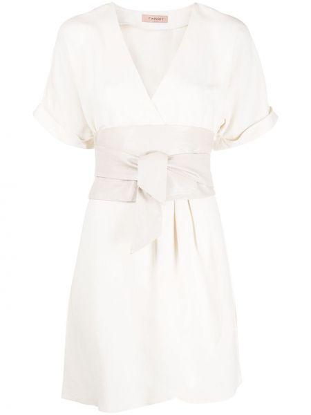 Платье мини с запахом с V-образным вырезом Twin-set