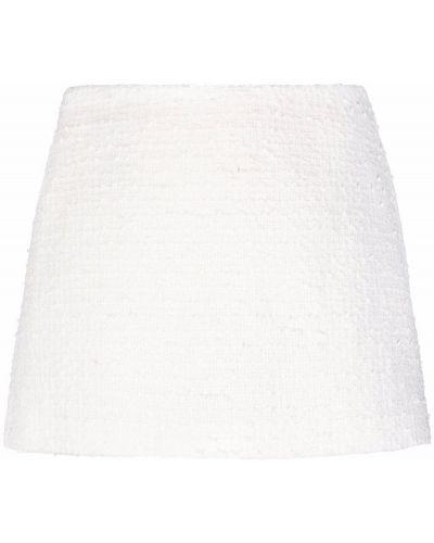 Хлопковая белая юбка мини на молнии Valentino