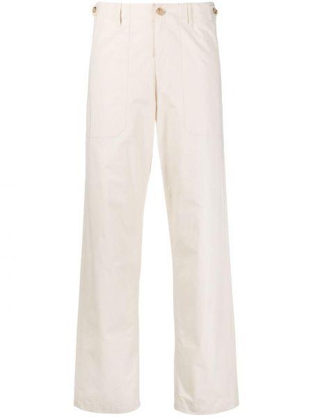 Прямые белые брюки с накладными карманами A.p.c.