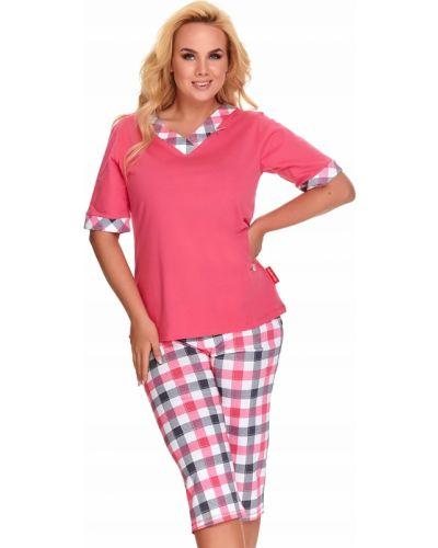 Różowa piżama bawełniana krótki rękaw Doctor Nap
