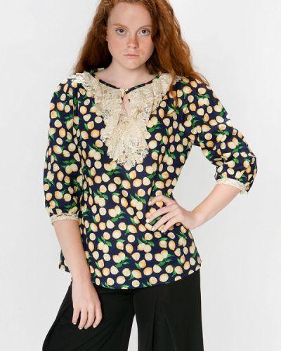 Блузка с длинным рукавом синяя Sugarlife