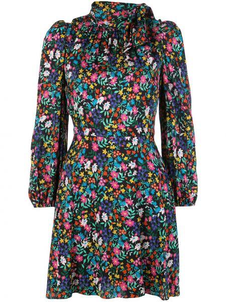 Платье с цветочным принтом с оборками Milly