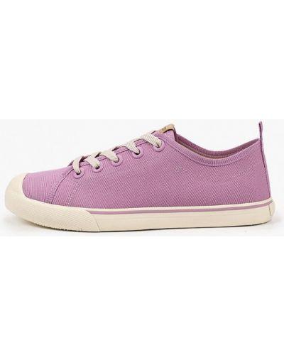 Фиолетовые текстильные низкие кеды Arezzo