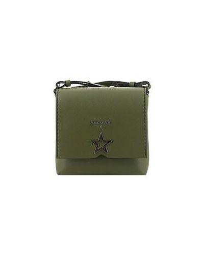 Зеленая кожаный сумка Patrizia Pepe
