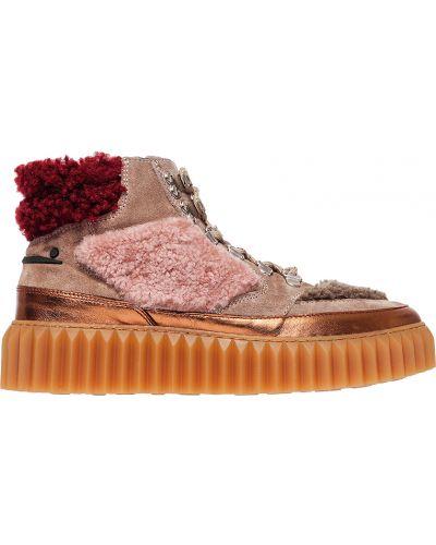 Кожаные ботинки осенние замшевые Voile Blanche