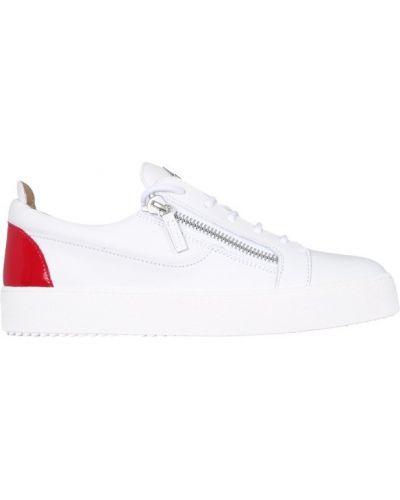 Buty sportowe skorzane - białe Giuseppe Zanotti