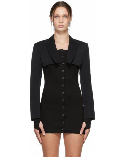 Черная длинная куртка Kimhekim