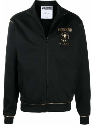 Bawełna z rękawami czarny bluza Moschino