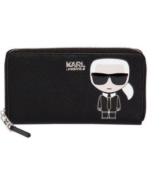Кожаный кошелек на молнии для монет Karl Lagerfeld