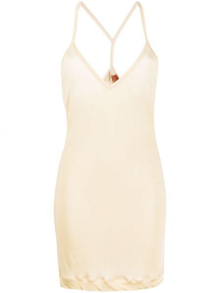 Тонкое платье на бретелях с V-образным вырезом на молнии Missoni Pre-owned