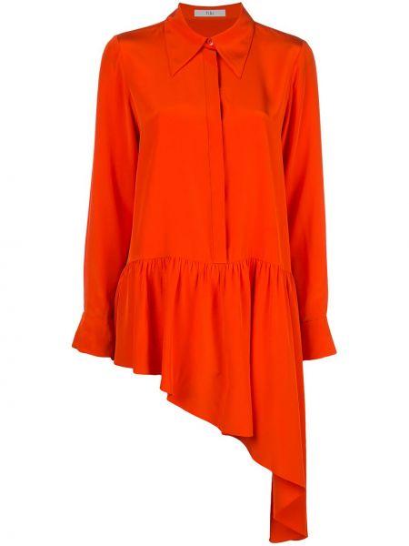 Koszula z jedwabiu - pomarańczowa Tibi