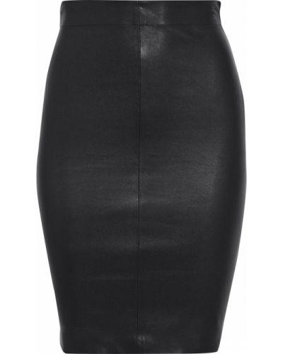 Черная кожаная юбка мини Walter Baker