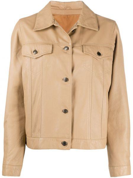 Кожаная куртка винтажная с воротником A.n.g.e.l.o. Vintage Cult