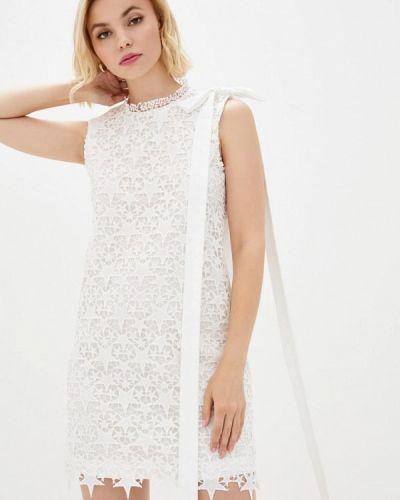 Белое прямое платье Frankie Morello