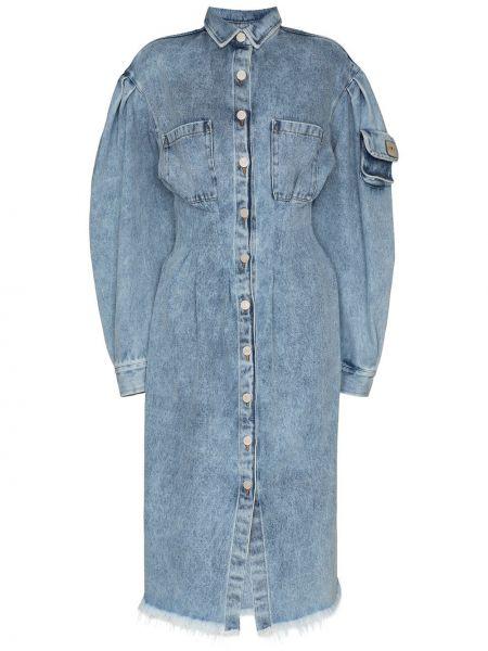 Джинсовое платье миди - синее Natasha Zinko