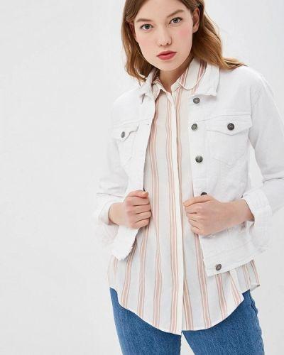 Джинсовая куртка весенняя белая B.young