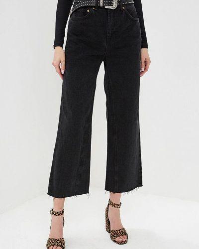 Широкие джинсы расклешенные черные Topshop