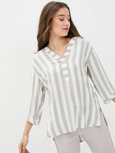 Блузка с длинным рукавом серая осенняя Wallis