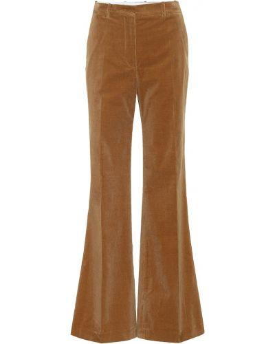 Свободные брюки вельветовые расклешенные Joseph