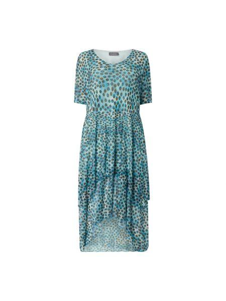 Sukienka mini rozkloszowana z cekinami krótki rękaw Samoon