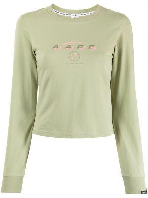 Zielona bluza z długimi rękawami Aape By A Bathing Ape