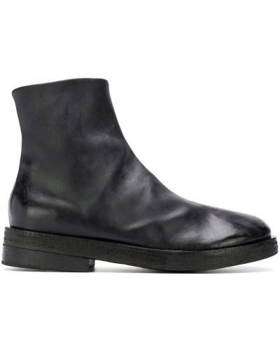 Ботильоны черный кожаный Marsèll