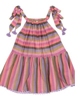Bawełna bawełna różowy top z paskami Zimmermann Kids
