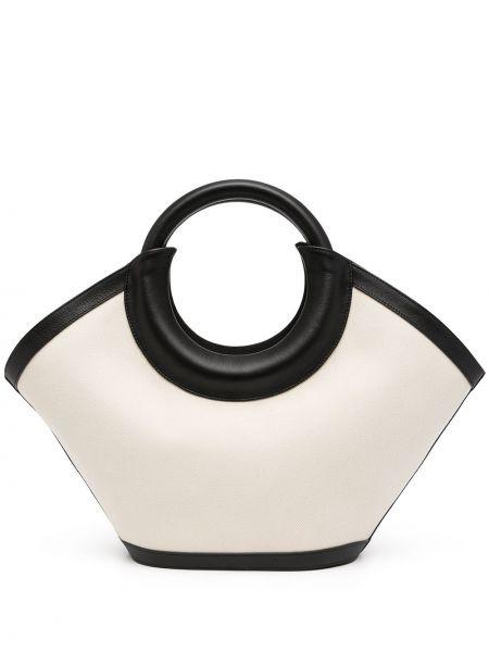 Biała torebka skórzana Hereu