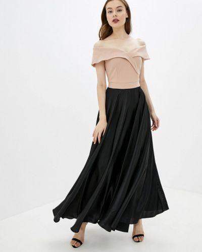Вечернее платье розовое осеннее Rinascimento