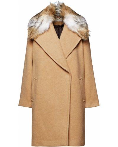 Шерстяное пальто двубортное с карманами Michael Michael Kors