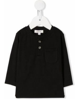 Czarny t-shirt z długimi rękawami bawełniany Aletta