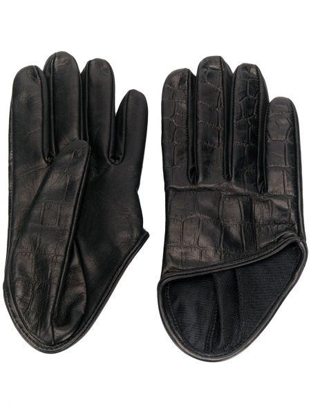 Кожаные перчатки черные Manokhi
