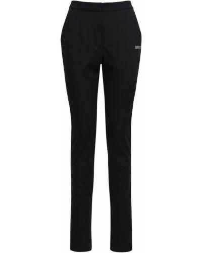 Czarny spodnie z wiskozy na hakach z kieszeniami Off-white