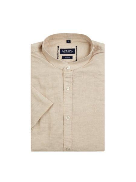 Beżowa koszula krótki rękaw bawełniana Mcneal
