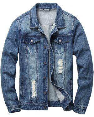 Джинсовая куртка мотокуртка Zaful